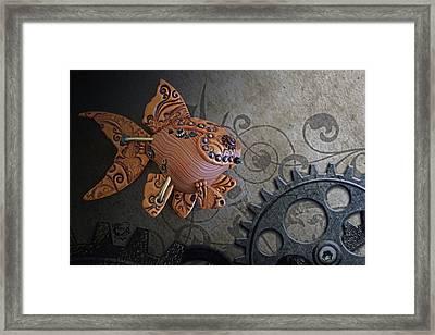 Steampunk Goldfish Framed Print by Stephen Kinsey
