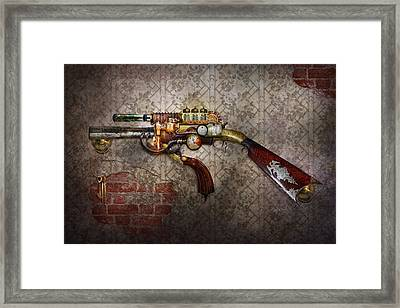 Steampunk - Gun - The Sidearm Framed Print by Mike Savad