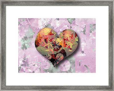 Steampunk Heart Framed Print by The Art of Marsha Charlebois