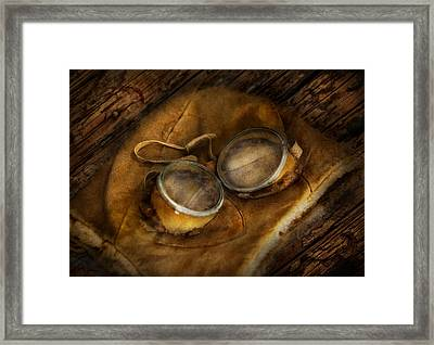 Steampunk - Hey Fly-boy  Framed Print by Mike Savad
