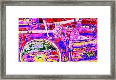 Framed Print featuring the photograph Steampunk Iron Horse #4 A by Peter Gumaer Ogden