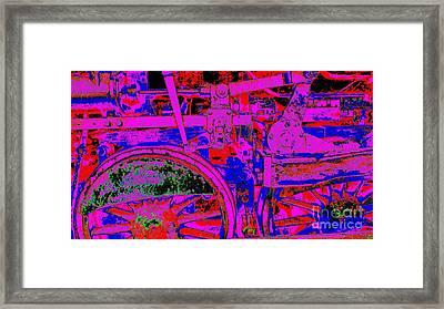 Framed Print featuring the photograph Steampunk Iron Horse #4 by Peter Gumaer Ogden