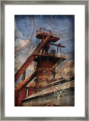 Steampunk Iron Mill Framed Print by Davina Washington