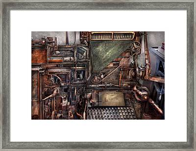 Steampunk - Machine - All The Bells And Whistles  Framed Print by Mike Savad