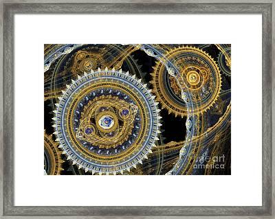 Steampunk Machine Framed Print by Martin Capek