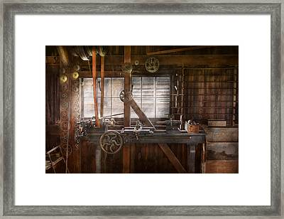 Steampunk - Machinist - My Tinkering Workshop  Framed Print by Mike Savad