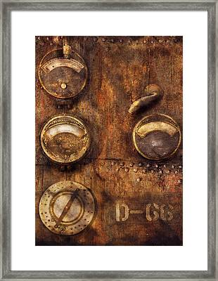 Steampunk - Meters D-66 Framed Print by Mike Savad