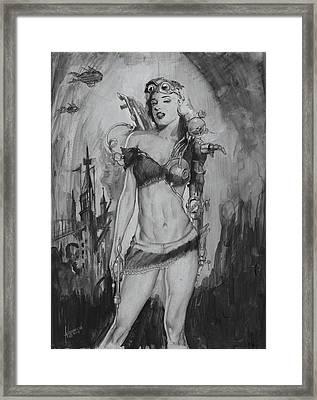 Steampunk Monroe Framed Print by Luis  Navarro