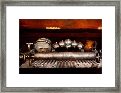 Steampunk - Music - Play Me A Tune  Framed Print by Mike Savad