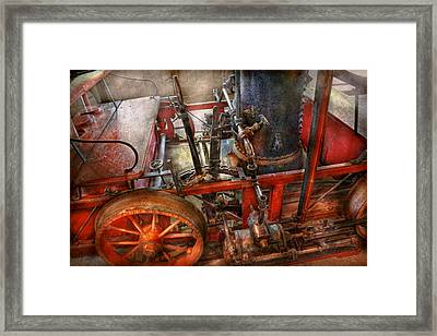 Steampunk - My Transportation Device Framed Print by Mike Savad
