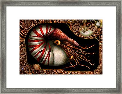 Steampunk - Nautilus - Coming Out Of Your Shell Framed Print by Mike Savad