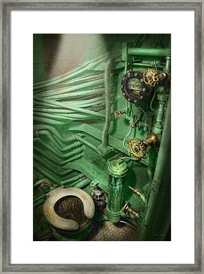 Steampunk - Naval - Plumbing - The Head Framed Print by Mike Savad