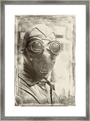 Steampunk Ninja Framed Print by David April