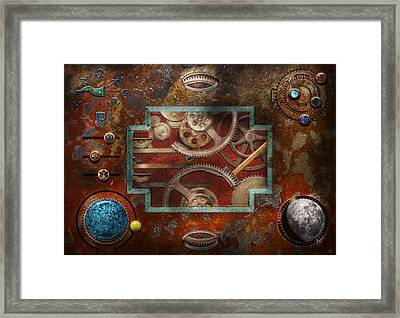 Steampunk - Pandora's Box Framed Print by Mike Savad