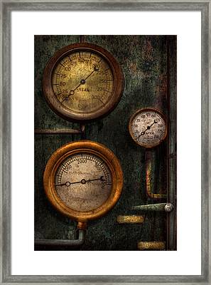 Steampunk - Plumbing - Gauging Success Framed Print