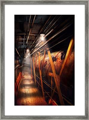 Steampunk - Plumbing - The Hallway Framed Print