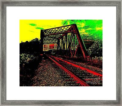 Steampunk Railroad Truss Bridge Framed Print