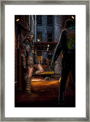 Steampunk Rendezvous Framed Print by Randy Turnbow