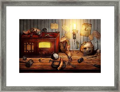 Steampunk - Repairing A Friendship Framed Print by Mike Savad