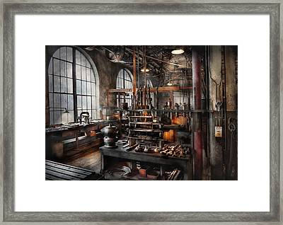 Steampunk - Room - Steampunk Studio Framed Print