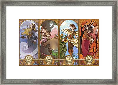 Steampunk Seasons Framed Print