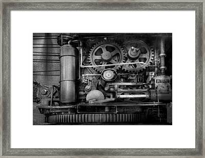Steampunk - Serious Steel Framed Print by Mike Savad