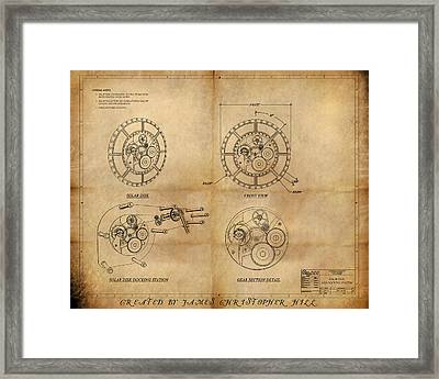 Steampunk Solar Disk Framed Print by James Christopher Hill
