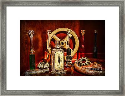Steampunk - Spare Gears - Mechanical Framed Print by Paul Ward