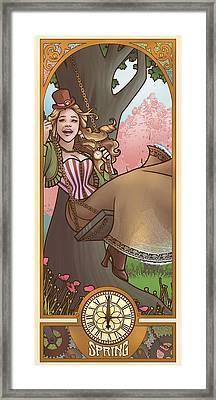 Steampunk Spring Framed Print