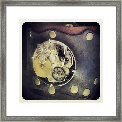 #steampunk #steampunkcuff Framed Print