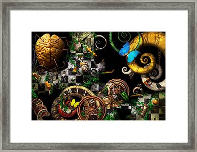 Steampunk - Surreal - Mind Games Framed Print by Mike Savad