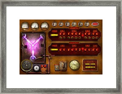 Steampunk - Temporal Flux Framed Print by Mike Savad