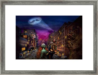 Steampunk - The Great Mustachio Framed Print by Mike Savad