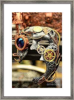 Steampunk - The Mask Framed Print by Paul Ward