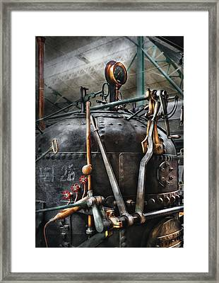 Steampunk - The Steam Engine Framed Print by Mike Savad