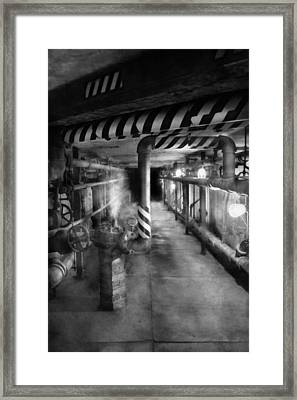 Steampunk - The Steam Tunnel Framed Print