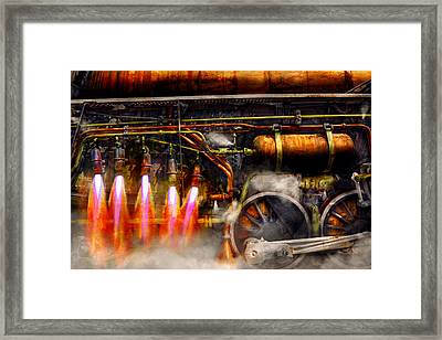 Steampunk - Train - The Super Express  Framed Print by Mike Savad