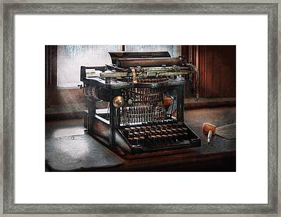 Steampunk - Typewriter - A Really Old Typewriter  Framed Print