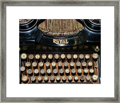 Steampunk - Typewriter -the Royal Framed Print by Paul Ward