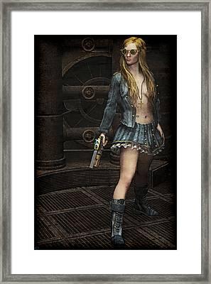 Steampunk Vixen Framed Print by Maynard Ellis