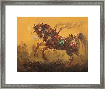 Steampunk War Horse Framed Print by Tom Shropshire