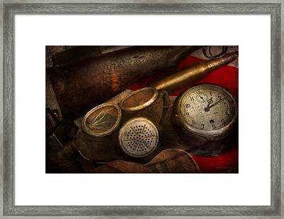 Steampunk - War - Remembering The War Framed Print by Mike Savad
