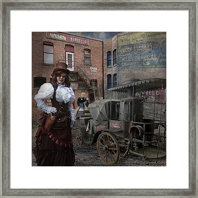Steampunk Welcome To The Oasis In Wallace Idaho Framed Print by Jeff Burgess