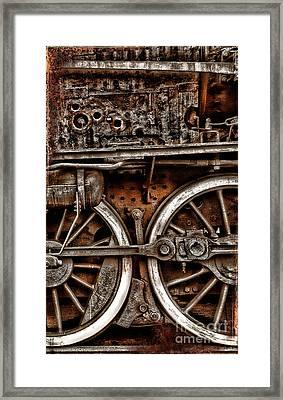 Steampunk- Wheels Locomotive Framed Print
