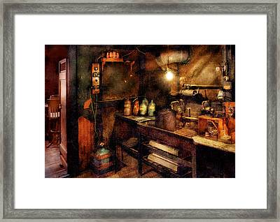 Steampunk - Where Experiments Are Done Framed Print by Mike Savad
