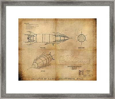 Steampunk Zepplin Framed Print