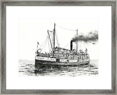 Steamship Bellingham Framed Print
