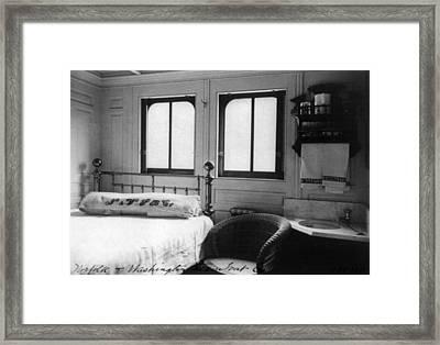 Steamship Cabin, C1900 Framed Print