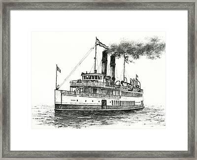 Steamship Tacoma Framed Print