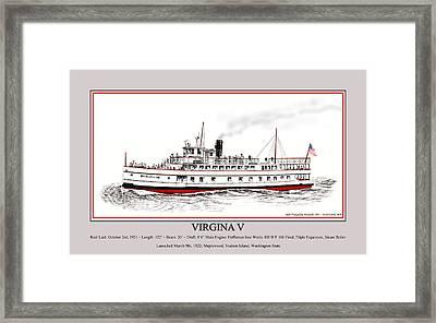 Steamship Virginia V Launch Poster Framed Print by Jack Pumphrey